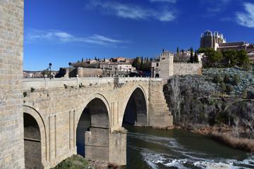 Saint Martin Bridge across Tagus River, Toledo, Spain