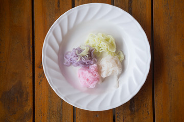 Colorful of Thai vermicelli rice noodles