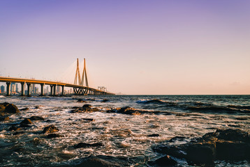 View of Bandra Worli Sealink fromBandstand