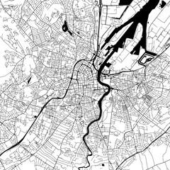 Belfast Downtown Vector Map