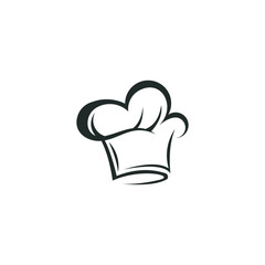 Chef hat logo vector abstract template download