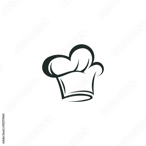 Chef hat logo vector abstract template download\