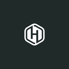 logo H letter vector graphic shape