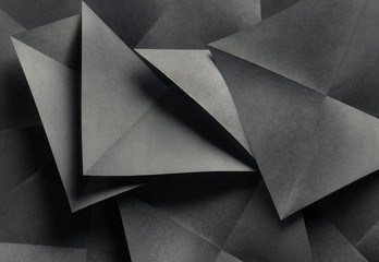 Geometric shapes of paper, abstract background.