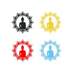 vector symbol buddha graphic modern shape