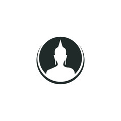 vector symbol buddha graphic modern shape