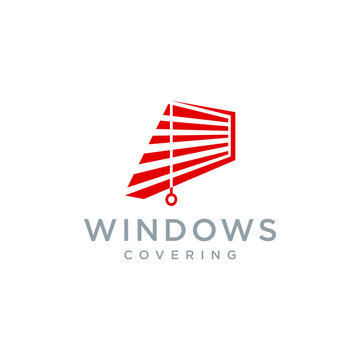 windows coverings logo vector abstract graphic