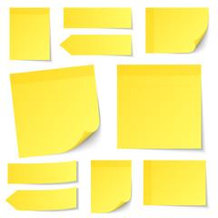 Yellow Stick Notes Set
