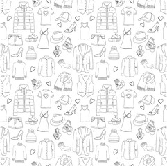 Clothes seamless pattern.