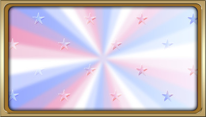 Stock Illustration - Rectangle Empty Background For American Holidays, 3D, Template for American Holidays.