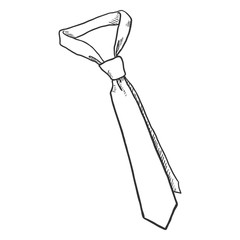 Vector Sketch Illustration - Single Classic Necktie