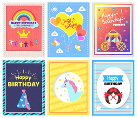 Happy Birthday Collection Vector Illustration