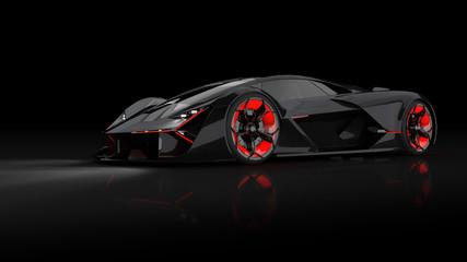 futuristischer E-Supersportwagen