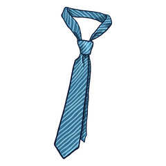 Vector Cartoon Illustration - Single Classic Necktie