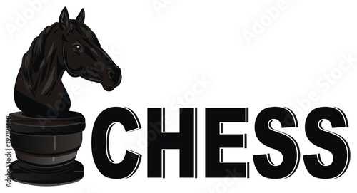 Horse Figure Chess Horse Black Horse Game Black Chess Figure