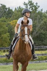 Horse and Ride focused on next obstacle