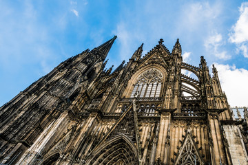 Cologne Cathedral, monument of German Catholicism and Gothic architecture in Cologne, Germany