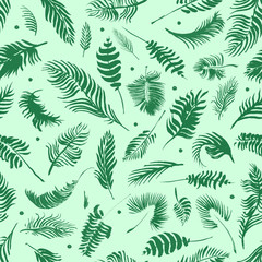 Tropical palm leaves, jungle leaves seamless floral pattern background, Watercolor tropical decor, Print summer exotic jungle plant tropical palm leaves. Pattern, seamless floral background.