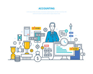 Accounting, analysis, audit. Financial management, market research, working with documentation.