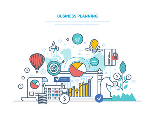 Business planning. Performance evaluation, organization, workflow control, time management.