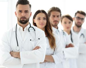 Portrait of medical team standing together