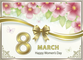 Flower card for the day of March 8