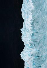 Beautiful icy massive mountain