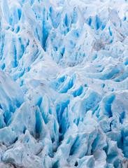 Blue melting snow