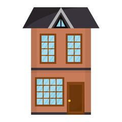 big building facade front vector illustration design