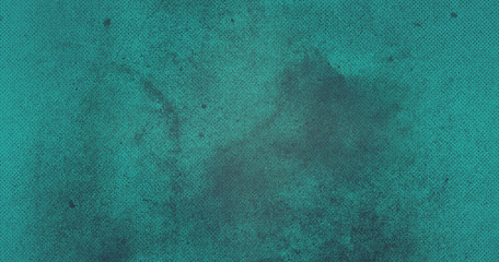 Emerald abstract textured background to the point with blue paint spots