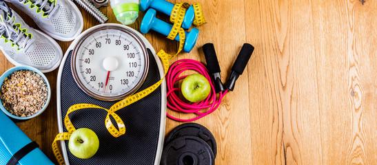 Fitness Hintergrund (Gewichts abnehmen)