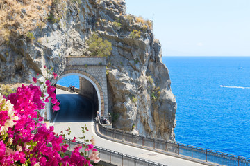 road of Amalfi coast, Italy