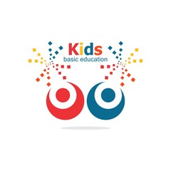 kids colorful basic education logo