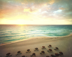 Carribean Beach Sunrise in Mexico