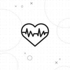 Heart rhythm icon