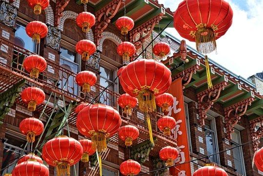 chinese lantern in china town San Francisco