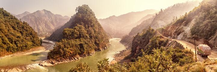 Estuary of River Seti Gandaki into Trishuli, Nepal