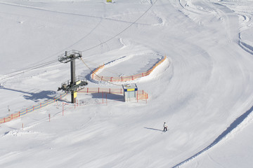 ski slope with ski lift
