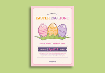 Easter Egg Hunt Flyer Layout