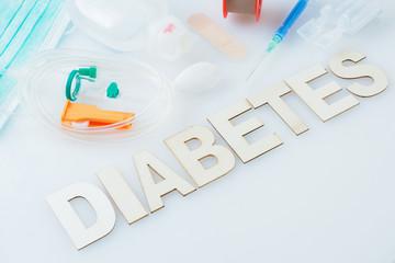 Inscription diabetes. Disposable infusion set.