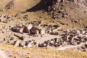 Ghost village in andean plateau,Bolivia
