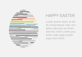 Digital Easter Card with Multilined Egg