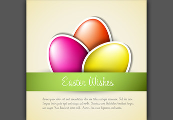 Digital Easter Card with Square Layout