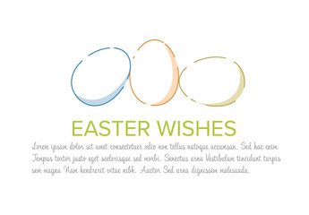 Digital Easter Card with Colorful Eggs