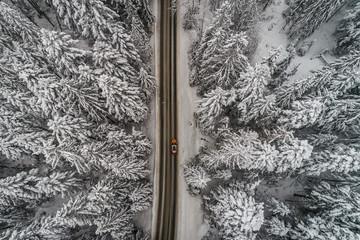 Góry prosta droga zima