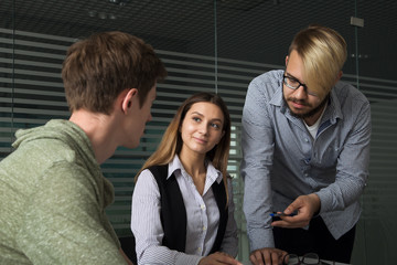 3 people work in the office