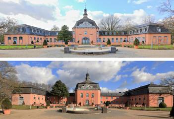 Ost- und Westflügel von Schloss Wickrath in Mönchengladbach