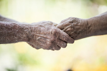 Holding Senior Hands