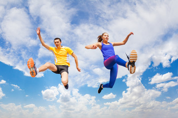 Active couple remains in air while running