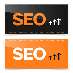 Banner design with SEO icon